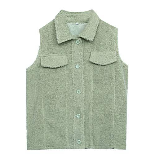 GL SUIT Dames Faux Bont Korte Gilet Dames Fleece Vest Body Warmer Taillejas Outwear Grote Maat Vest Mouwloos Chunky Cardigan Tops Herfst En Winter Jas
