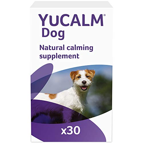 Lintbells | YuCALM Dog | Calming Supplement for Dogs who are Stressed or Nervous, All Ages and Breeds | 30 Tablets