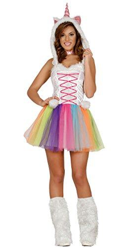 Guirca- Costume da Unicorno Adulta Donna, Multicolore, Talla 38-40, 84538