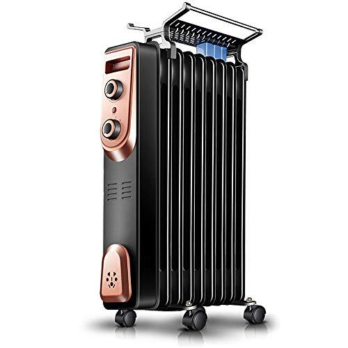 Calentador de radiador eléctrico delgado y portátil lleno de aceite con termostato...