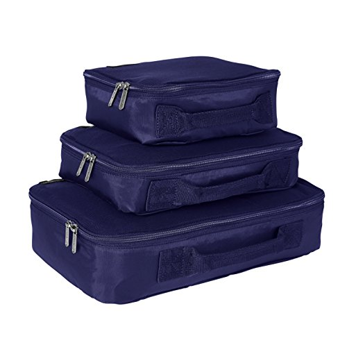 Genius Pack Compression Home Organizers - Set of 3 (Navy)