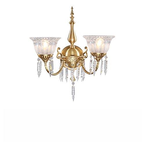 ZWL Retro Crystal Living Room Lampe murale Lampes de chevet de chambre à coucher, salle de bain créative E14 Doublure simple et douille 23-48CM Éclairage de maison Lampes de décoration et lanternes Porte-fenêtre de corridor d'entrée mode ( taille : 48*45CM )