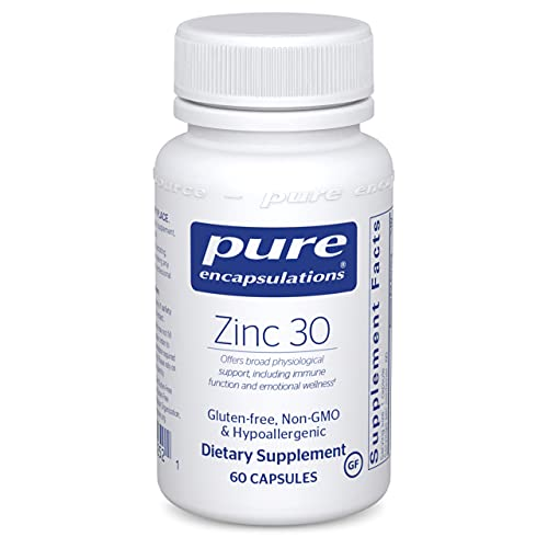 Pure Encapsulations Zinc 30 mg | Zinc Picolinate Supplement for Immune System Support, Growth and Development, Wound Healing, Prostate, and Reproductive Health* | 60 Capsules