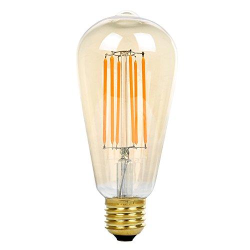 E27 ST64 Golden 8W LED Birne ersetzt 70W Glühbirne, LED E27 Filament Birne Kolbenlampe, 550LM...