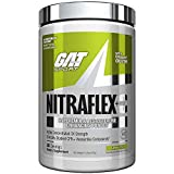 GAT Sport NITRAFLEX + C,Testosterone Boosting Powder with Creatine, Increases Blood Flow, Builds Muscle Mass, Boosts Strength and Energy, Improves Exercise Performance (Lemon Lime, 30 Servings)