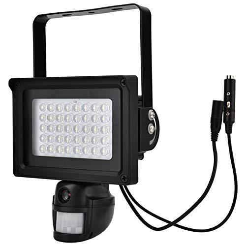 DAUERHAFT Cámara con energía Solar 40 cámara de Seguridad WiFi con iluminación LED Blanca súper Brillante para Luces de(European regulations)
