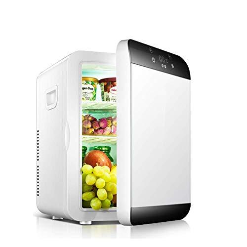 ZXL Mini-koelkast, draagbaar, elektrische koeler en kachel, compacte koelkast met digitale thermostaat, wijnkoeler voor camping