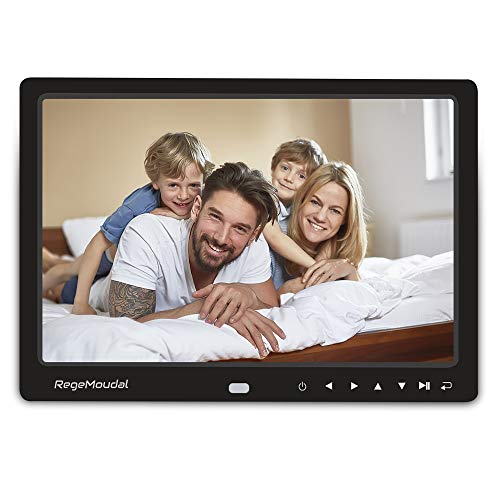 Digital Frame,RegeMoudal 12 Inch Electronic Photo Frame with 2.4G Remote Control,Support SD Card/USB (Black 2)