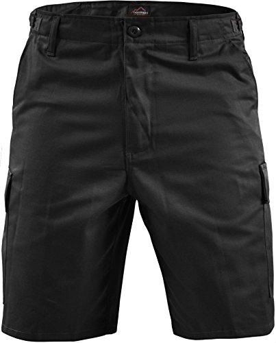 normani Kurze Bermuda Shorts US Army Ranger Feldhose/Arbeitshose S - XXXL Farbe Schwarz Größe M