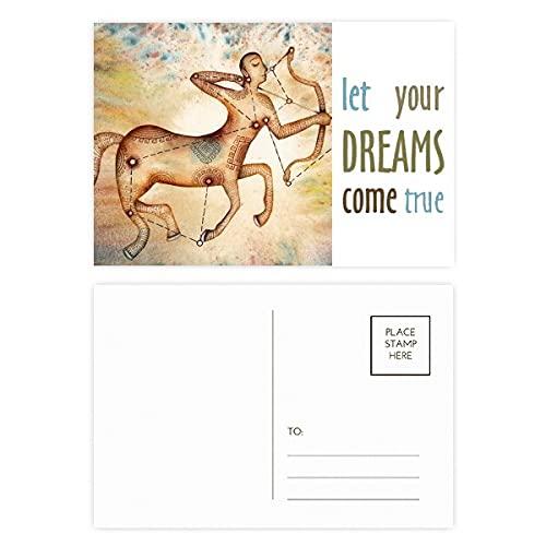 Listopad grudzień Strzelec konstelacja sen Come True zestaw pocztówek kartka z podziękowaniami strona pocztowa 20 szt