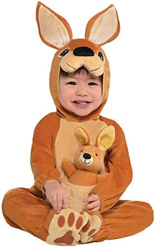 amscan 9908443 Kinder Jumpin' Joey Kostüm (2-3 Jahre), Unisex Kinder, Mehrfarbig
