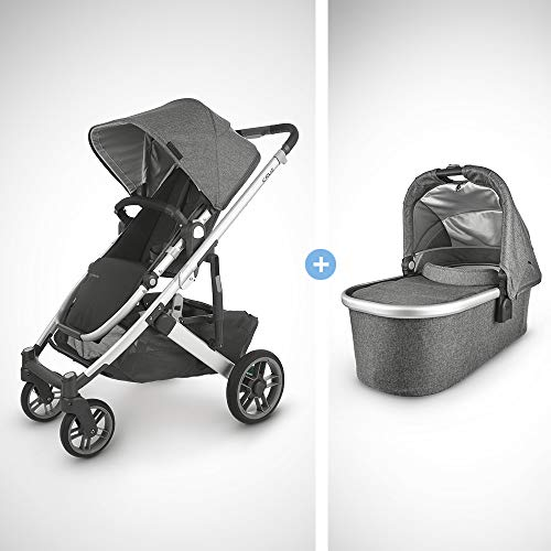 Fantastic Deal! UPPAbaby Cruz V2 Stroller - Jordan (Charcoal Melange/Silver/Black Leather) + Bassine...