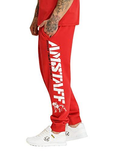 Amstaff Männer Logo 2.0 Sweatpants Jogginghose Rot/Weiß XXL