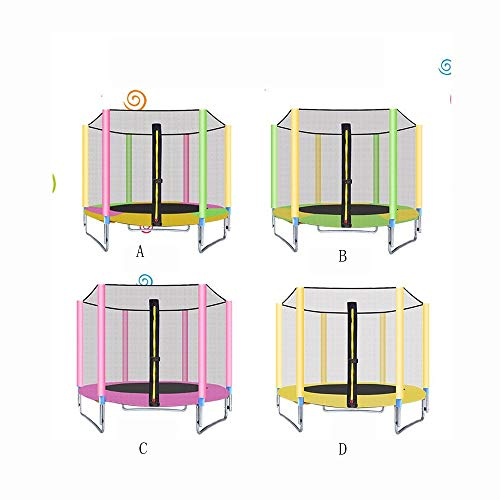 JIADUOBAO-O Outdoor Trampoline 8ft / 10ft / 12ft/13ft/14ft/15ft/16ft Premium Trampoline with Safety Enclosure, Net, Ladder and Anchor Kit O (Color : D, Size : 10ft)