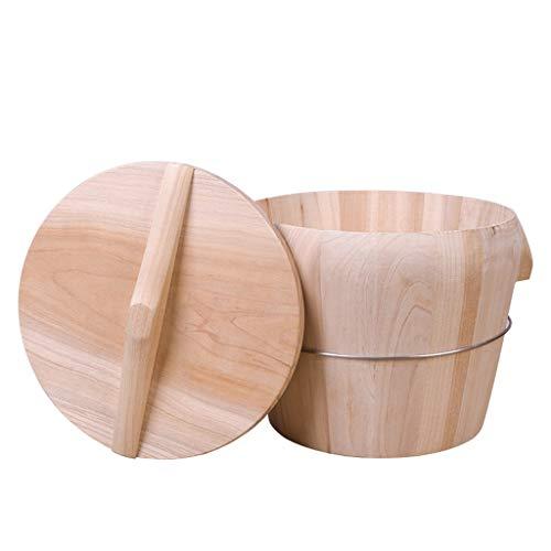 Bois de bambou Baril de riz Baril en bois Cuit à la vapeur Baril Ménage en bois Cuit à la vapeur Cuit à la vapeur (Taille : 21cm)
