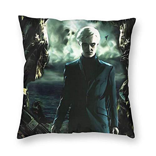 Harry Potter - Fundas de cojín decorativas de microfibra suave para sofá, dormitorio, cuadrado