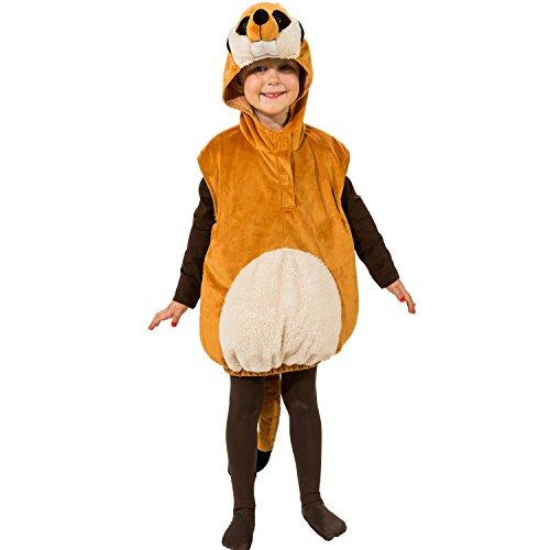 Unbekannt Tier Kostüm für Kinder Gr. 104 Erdmännchen zur Auswahl Fasching Karneval