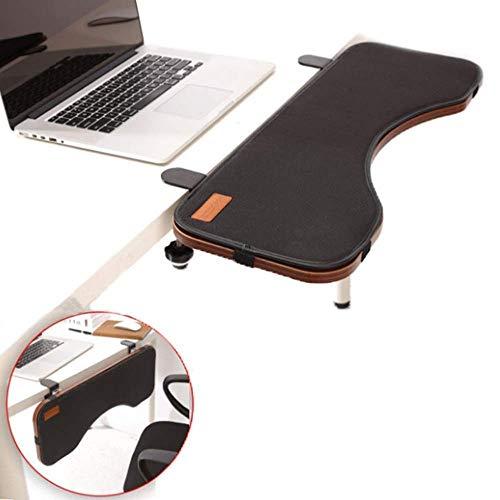 NNBB Computer Arm Handgelenkauflage, Tastaturablage Einstellbare Computer Desk Slide Extender aufsteckbaren Schreibtisch Home Office Mouse Pad Arm für Heim und Büro-Support