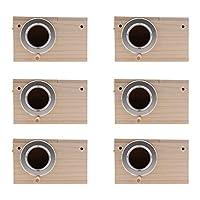 amleso 6個入り バードハウス 巣ケージ 野鳥用巣箱 バードフィーダー 窓付き バードルーム 便利性