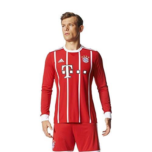 adidas Herren FC Bayern München Home Replica Jersey Longsleeve 2017/18 Langarmtrikot, FCB True red/White, L