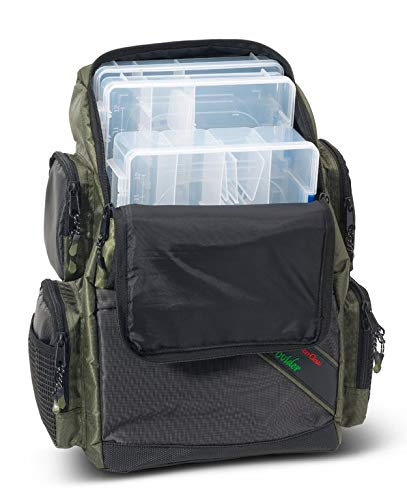 IronClaw Prey Provider Backpacker, Angelrucksack mit 3 Boxen (1x 36x22,5x8cm / 2X 36x22,5x5cm), Maße 29x20,5x42cm