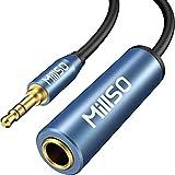 6.3mm標準ジャック 3.5mmステレオミニプラグ変換ケーブル MillSO 1/4インチto 1/8インチ ヘッドフォン変換アダプター 6.35mmメス→3.5mmオス 変換プラグ マイクロフォン/ミキサー/アンプ対応