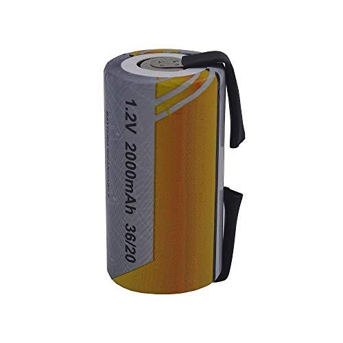 Batteria Pila SC 2000mAh 2.0Ah Ni-Cd 1,2V con lamelle a saldare per pacchi batterie trapani torce allarmi