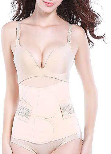 OKPOW - Fascia per ventre post-parto, fascia elastica per il ventre, fascia post-parto, per donne e maternità dopo la nascita Nude L