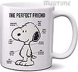Divertente tazza da tè Snoopy – Perfect Friend – Tazza da caffè – Ceramica – …