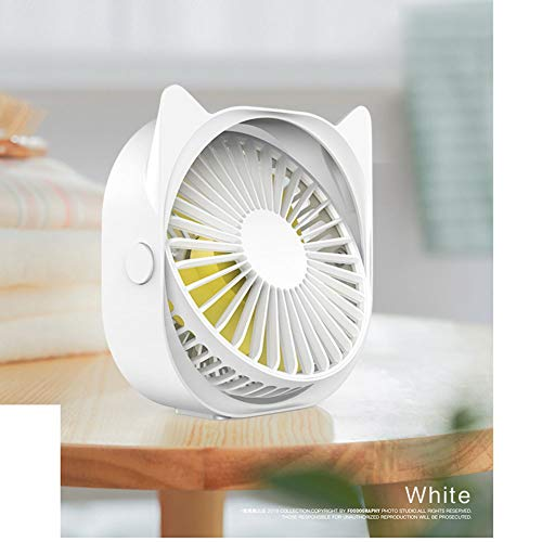 USB-Ventilator, USB Desk Fan, Portable Mini Fan, Bureau Fan USB Desk Fan Met 360 Rotationtable Fan Silent Ideaal Voor Thuiskantoor