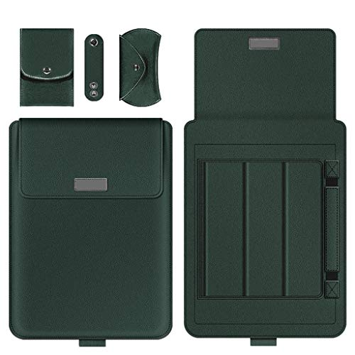 HE-XSHDTT Laptop Protective Cover 13.3 Inch Ultra-Thin Four-Piece Storage Bag Work Carry Laptop Bag Case,dark green,13/14 inch
