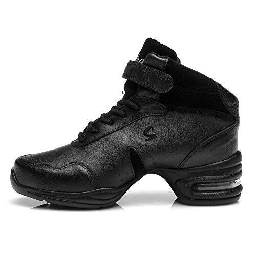 YKXLM Hombres&Mujeres Danza-zapatillas de deporte Zapatos de baile Calzado de Danza/Modernos de la danza del jazz,ESA-B51A,Negro,EU 40