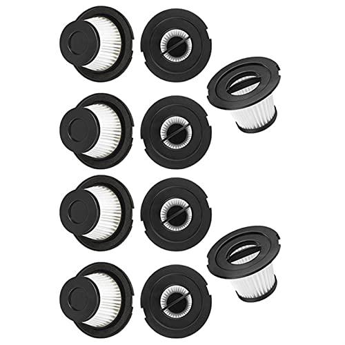 L-Yune, Filtro HEPA de reemplazo de 10pcs para DIBEA C17 T1 T1 Piezas de aspiradora de Palos sin Cable (Color : Black White)