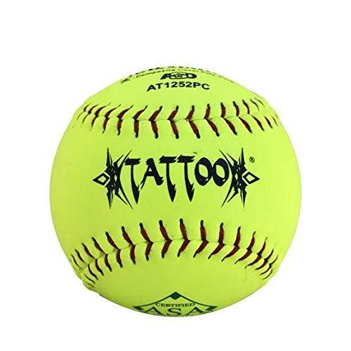 AD Starr Tattoo 52-300 12 Inch Composite ASA Slowpitch Softball - One Dozen: AT1252PC