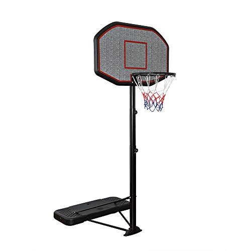 Display4top Système de Support Net de Hoop Net de Support de Basket-Ball portatif réglable de 200-305cm de