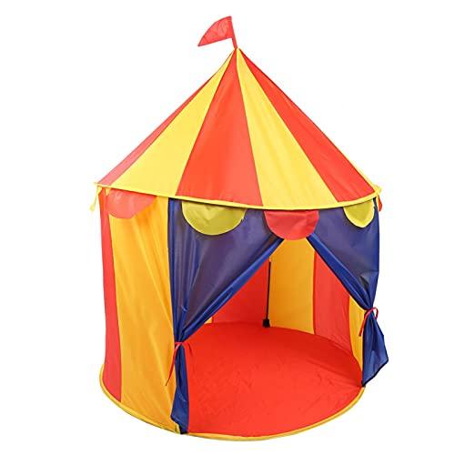 GOTOTOP Juguete portátil Plegable para niños, Juegos de Interior y Exterior Casas de Juegos Tienda de Castillo sin Bolas (Tienda de cúpula de Circo)(Circus Yurt)