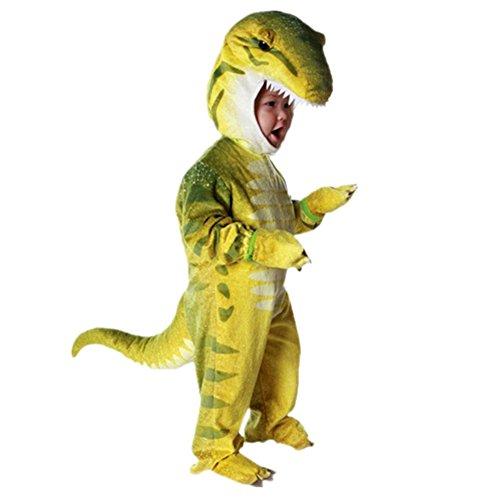 Disfraces de Dinosaurio para Ninos Cosplay Pijama Dinosaurio para Fiesta Halloween Amarillo 2-4 Anos