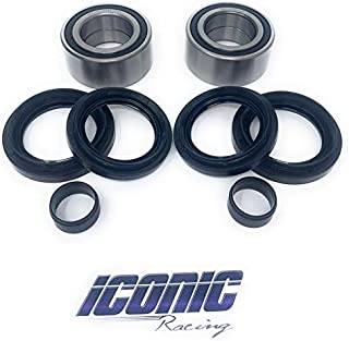 Iconic Racing Both Front Wheel Bearing and Seal Kits Compatible With Honda 05-14 TRX500 FA FE FGA FM FPA FPE FPM Fourtrax Foreman Rubicon TRX680 Rincon