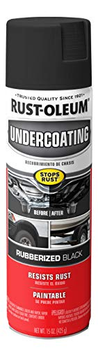 Rust-Oleum 248657 Rubberized Undercoating Spray, 15 oz, Black