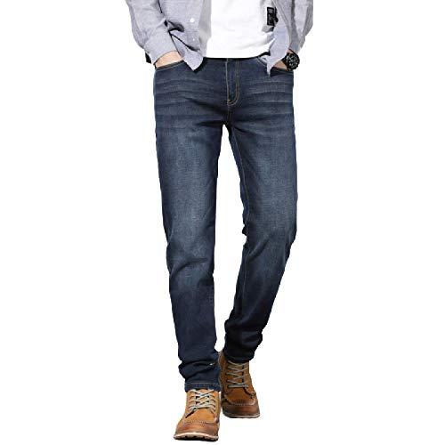 Pantalones Vaqueros para Hombre, Verano, Pantalones Vaqueros elásticos de Pierna Recta y Talla Grande 40