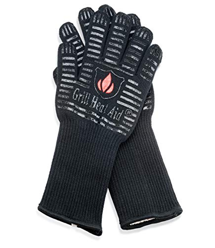 BBQ Gloves Extreme Heat Resistant for Baking, Smoking, Cooking, Grilling, Barbecue, Fireplace, Camping – More Flexibility for Kitchen or Outdoor Than Oven Mitts, Protect Up To 932°F, 14 inch Long Cuff