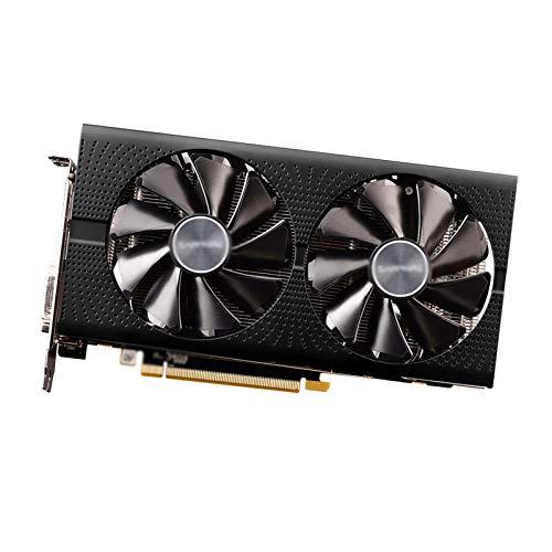 Tarjeta Grafica Enfriamiento De Doble Ventilador Apto para Fit For Sapphire AMD Radeon GPU RX 580 4GB Tarjeta De Video para PC GDDR5 256bit Usado Tarjetas Gráficas