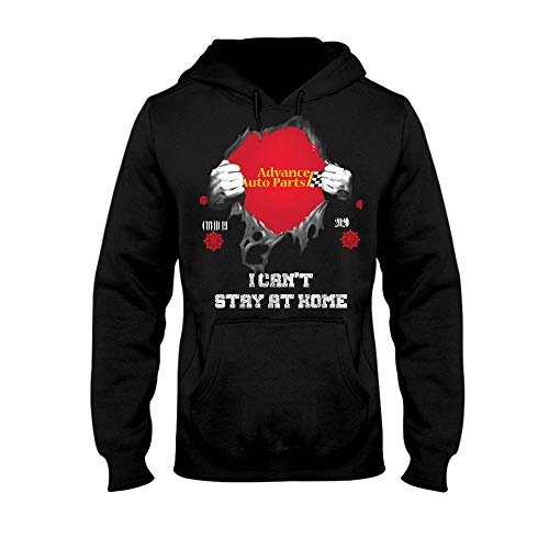 Blood Inside ME Advance AUTO Parts CO-VID 19 2020 I CANâ€T Stay at Home-01-01 Hoodie, Unisex