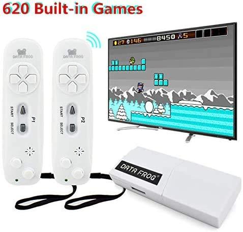 JFZCBXD Protable USB Wireless Handheld TV Console de Jeux vidéo dans Build-620 Classique 8 Bits Mini-Jeu Console Double Gamepad Sortie AV