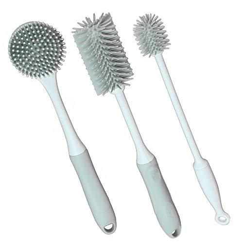 Cepillos de limpieza de silicona gris - Juego de 3 | Depuradores...