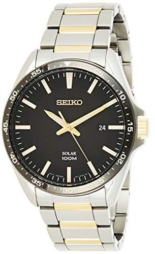 Seiko Solar Herren-Uhr Edelstahl mit Metallband SNE485P1