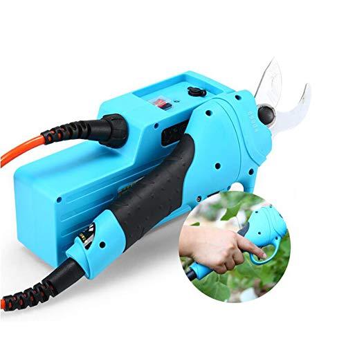 TOPCHANCES Tijeras de podar eléctricas, Tijeras Profesionales Recargables para jardín con Rama de 25 mm (Rama Dura) ~ 30 mm (Rama Suave) para Herramientas de Corte de jardinería en el hogar