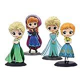 4 Unids / Set 16 Cm Frozen 2 Q Posket Anna Elsa Princesa PVC Figura De Acción Anime Mini Colección E...