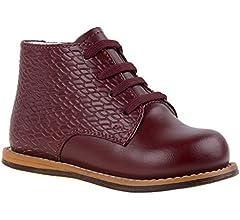 White Pat, 6.5, Wide Josmo Kids Walking Shoes