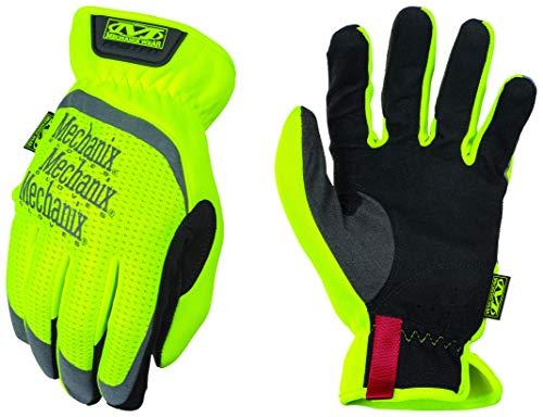 Mechanix Wear SFF-91-008 Guantes de trabajo de alta visibilidad, Amarillo fluorescente, S
